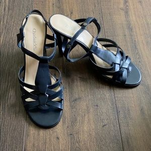 Chadwicks Black Strappy Heel